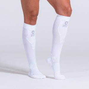 compression-sock-white