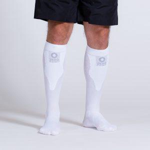 compression-sock-white