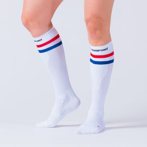 compression-sock-white-striped-3