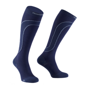 MERINO WOOL MEDIUM COMPRESSION SOCK Blue