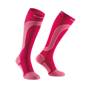 MERINO WOOL MEDIUM COMPRESSION SOCK Pink