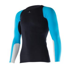 MEn Athletic LS Top black aqua JPEG
