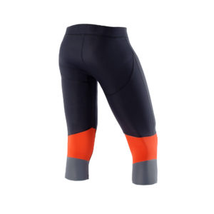 Men Athletic Compression 3-4 tight black orange back