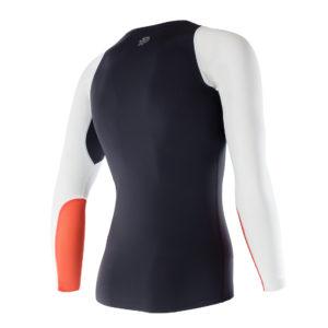 Men Athletic LS Top black orange back