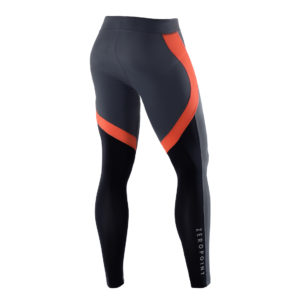 Men Athletic Tights devils orange back