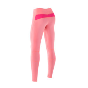 Women Athletic Compression tights Pink Soda Pink Candy back