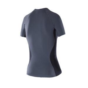 Women Athletic SS top dark grey back
