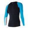 MEn Athletic LS Top black aqua back JPEG