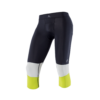 Men Athletic Compression 3-4 tight black chartreuse PNG