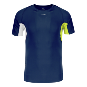 ATHLETIC COMPRESSION SS TOP M DarknavyRadientIvory Front