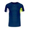 Athletic Short Sleeve Top M DarknavyRadientIvory