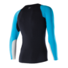 ATHLETIC COMPRESSION LS TOP M BlackAquaWhite Back