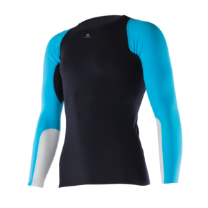 ATHLETIC COMPRESSION LS TOP M BlackAquaWhite Front