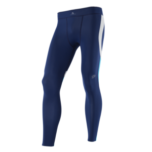 ATHLETIC COMPRESSION TIGHTS M BlueberryWhiteNordicblue Front
