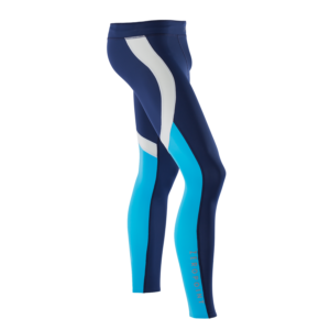 ATHLETIC COMPRESSION TIGHTS M BlueberryWhiteNordicblue Side