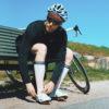 white-compression-sock