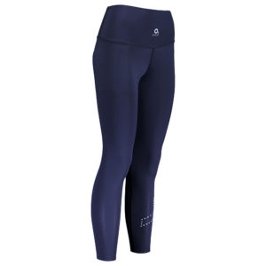 PERFORMANCE COMPRESSION TIGHTS W navy diagonal